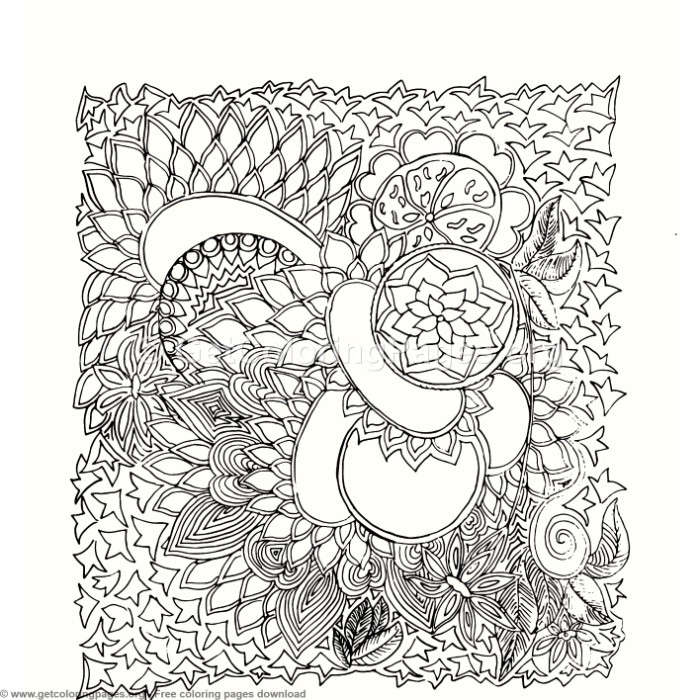 3 Zentangle Patterns Coloring Pages – GetColoringPages.org