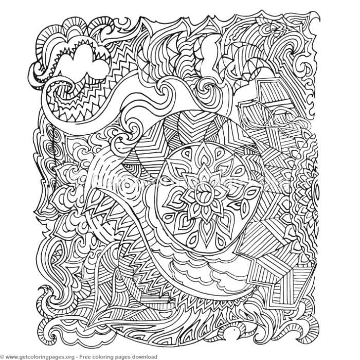 30 Zentangle Patterns Coloring Pages – GetColoringPages.org