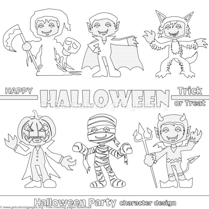 4 Happy Halloween Coloring Pages – GetColoringPages.org