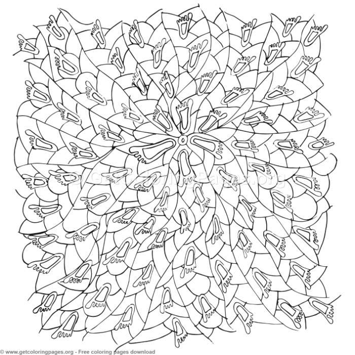 52 Zentangle Patterns Coloring Pages – GetColoringPages.org