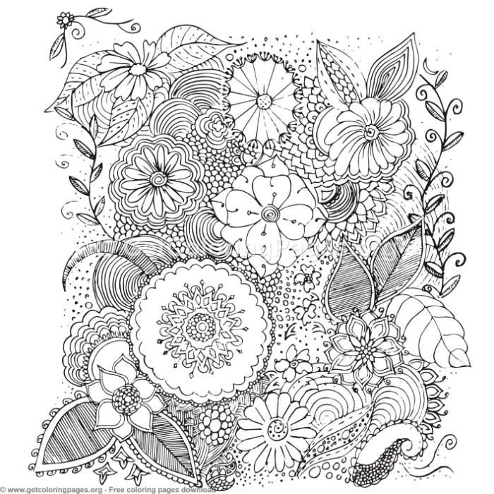 58 Zentangle Patterns Coloring Pages