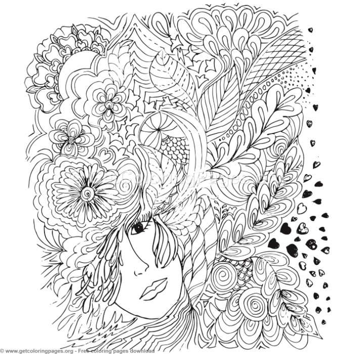 59 Zentangle Patterns Coloring Pages