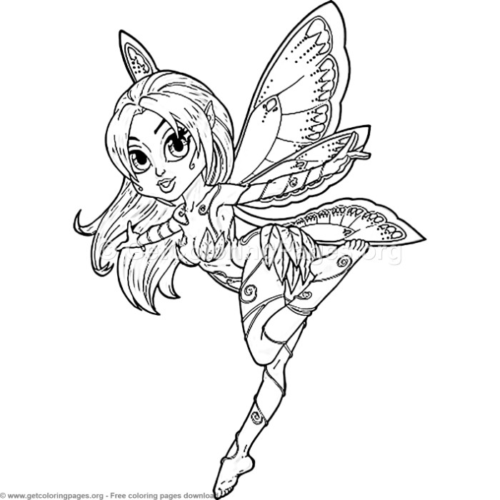 creative art 5 fairy butterfly coloring pages. Black Bedroom Furniture Sets. Home Design Ideas