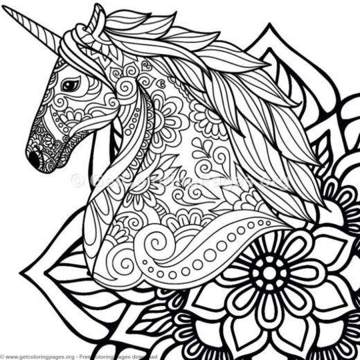 unicorn birthday coloring pages
