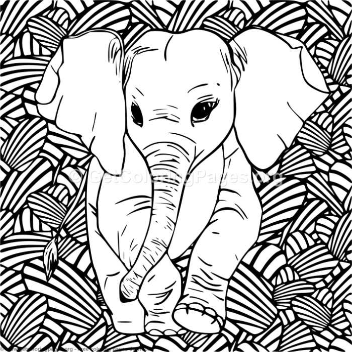 6 Zentangle Pattern and Elephant Coloring Pages – GetColoringPages.org