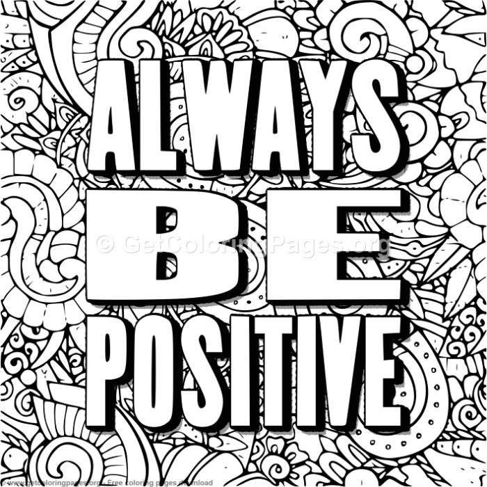 Always Be Positive Coloring Pages GetColoringPages