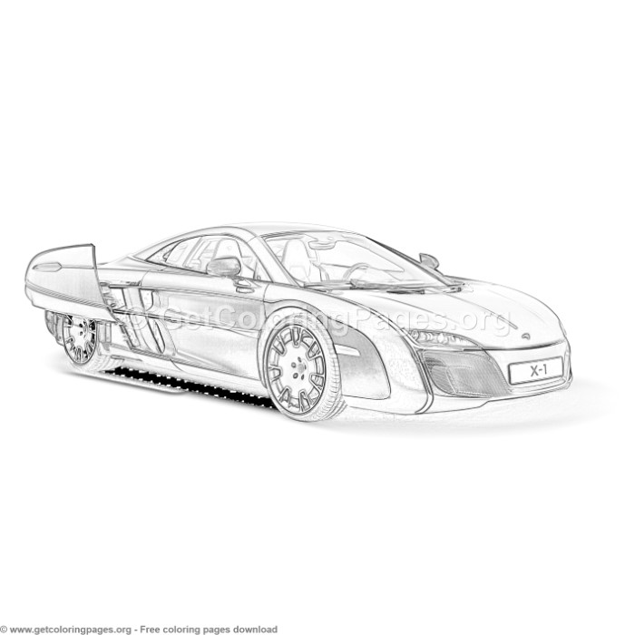 Mclaren X1 Concept Car Coloring Pages Getcoloringpages Org