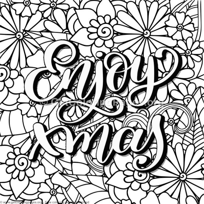zentangle enjoy xmas coloring pages