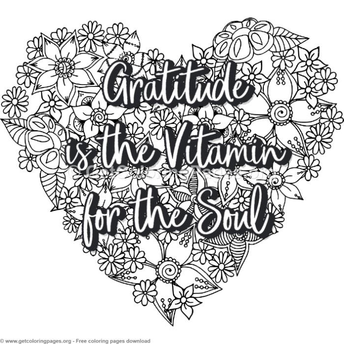 Zentangle Heart Gratitude Is The Vitamin For The Soul