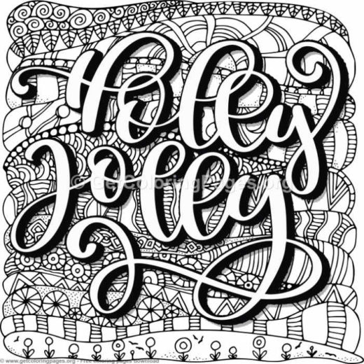 zentangle holly jolly coloring pages