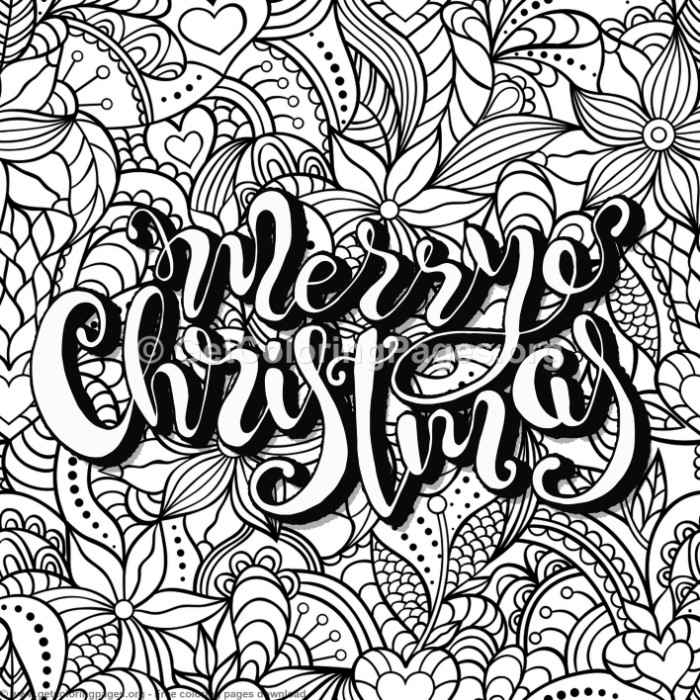 zentangle merry christmas coloring pages