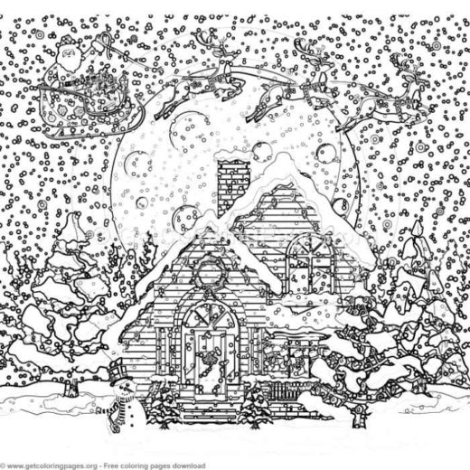 6 merry christmas card coloring pages