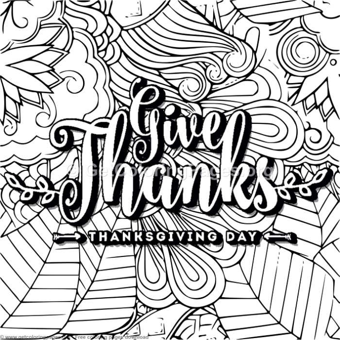 Give Thanks Coloring Pages Getcoloringpages Org