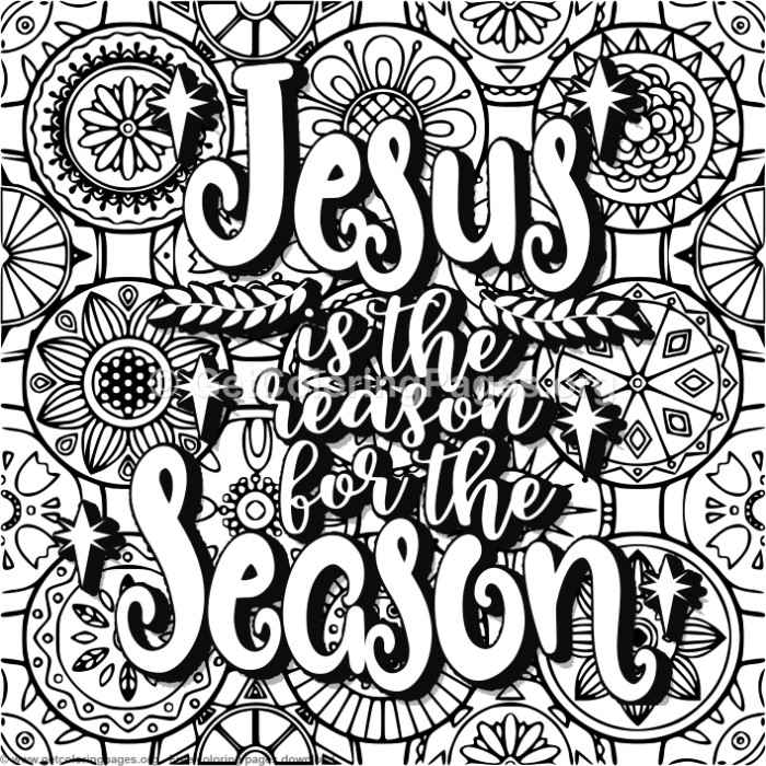 Jesus Is The Reason For The Season Coloring Pages