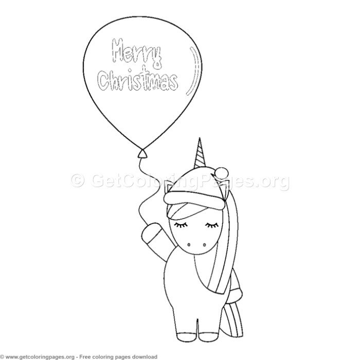 10 Cute Christmas Unicorn Coloring Pages Getcoloringpages Org