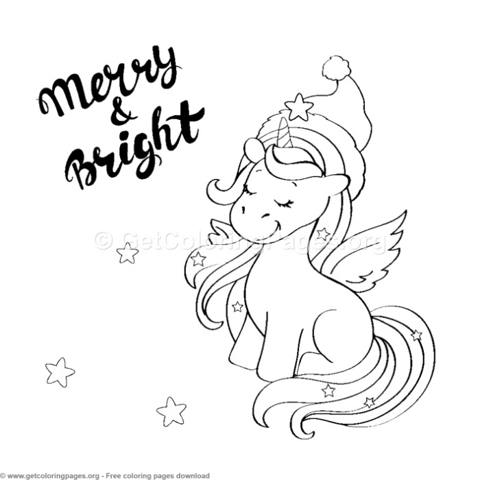 11 Cute Christmas Unicorn Coloring Pages ...