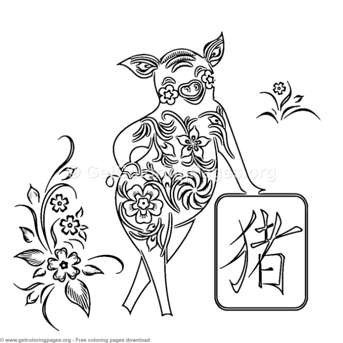 13 Year Of The Pig Coloring Pages Getcoloringpages Org