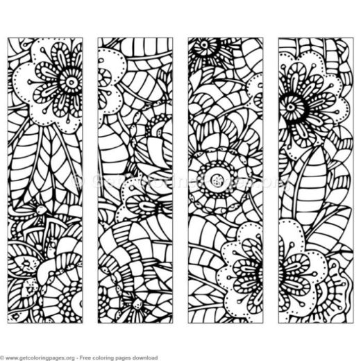 4 Floral Bookmark Coloring Pages Getcoloringpages Org
