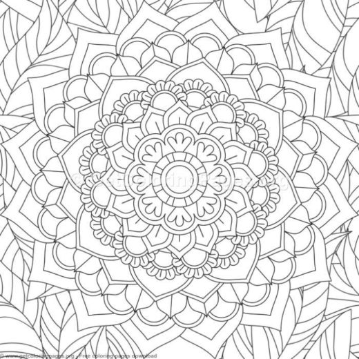 2 Zentangle Flower Mandala Coloring Pages