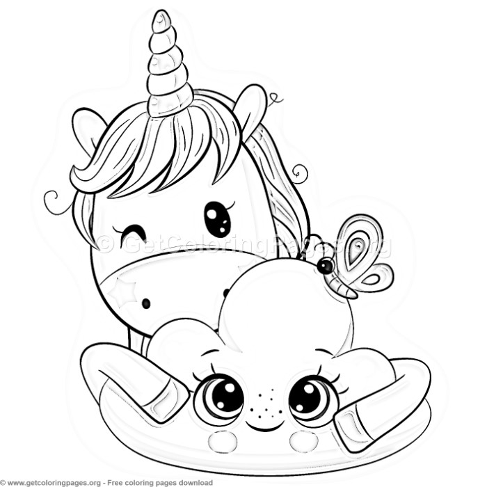 25 Cute Cartoon Unicorn Coloring Pages - GetColoringPages.org
