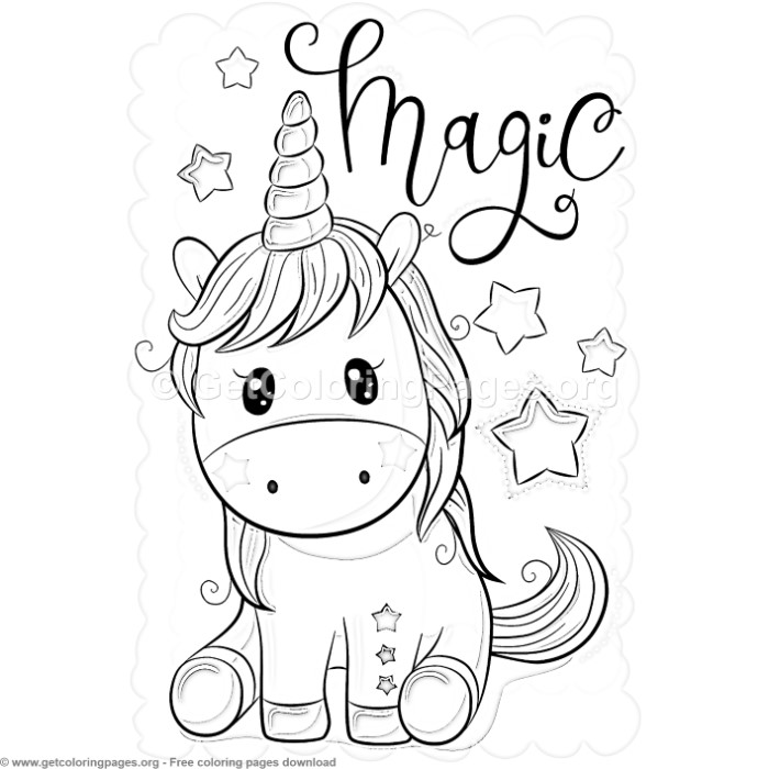 27 Cute Cartoon Unicorn Coloring Pages – GetColoringPages.org