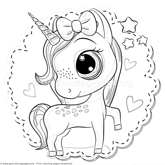 30 Cute Cartoon Unicorn Coloring Pages – GetColoringPages.org