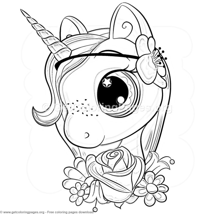 33 Cute Cartoon Unicorn Coloring Pages - GetColoringPages.org