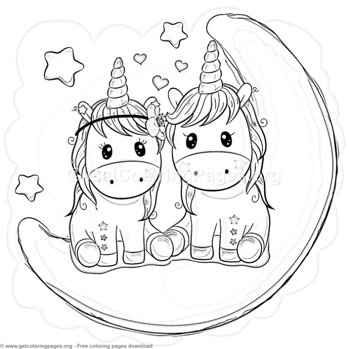 34 Cute Cartoon Unicorn Coloring Pages – GetColoringPages.org