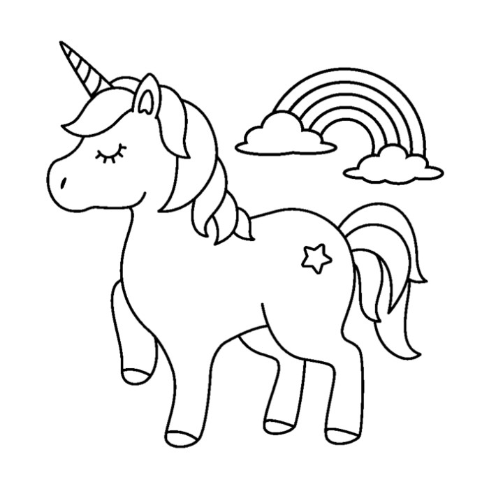 52 Cute Cartoon Unicorn Coloring Pages - GetColoringPages.org
