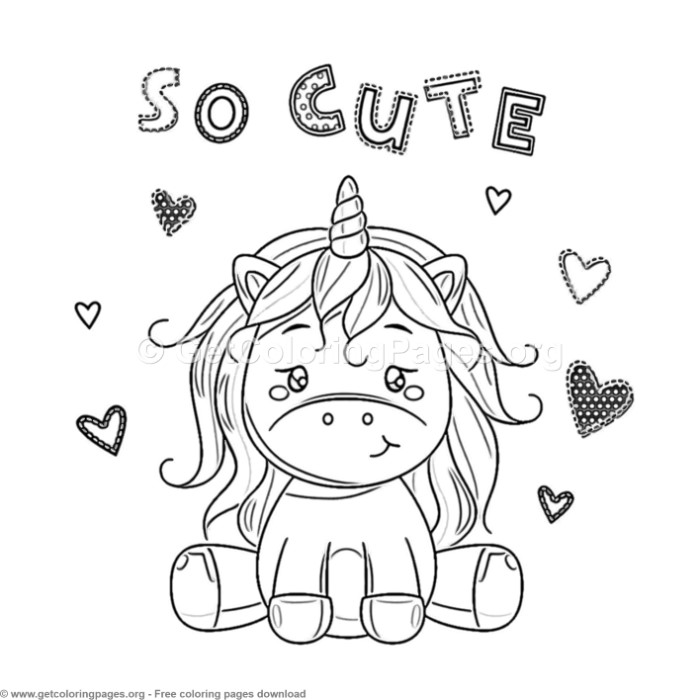 61 Cute Cartoon Unicorn Coloring Pages – GetColoringPages.org