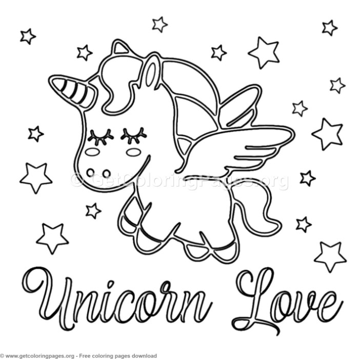 62 Cute Cartoon Unicorn Coloring Pages – GetColoringPages.org