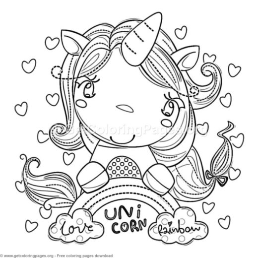 Unicorn Birthday Coloring Pages Page 4 Getcoloringpages Org