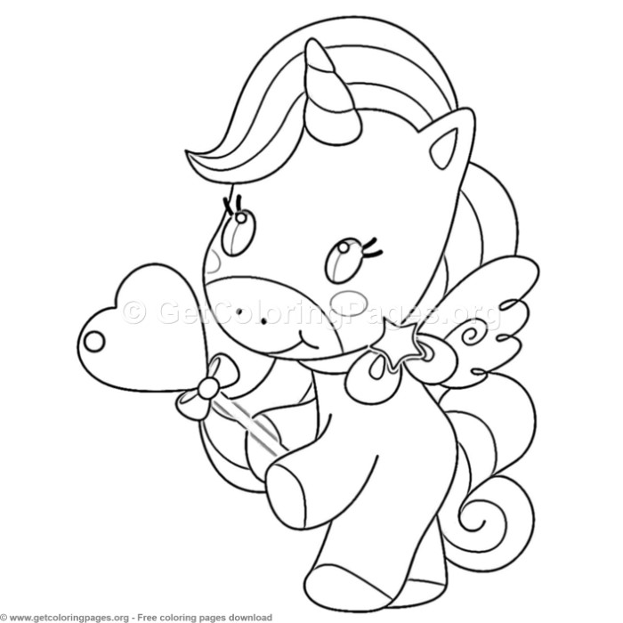 65 Cute Cartoon Unicorn Coloring Pages – GetColoringPages.org