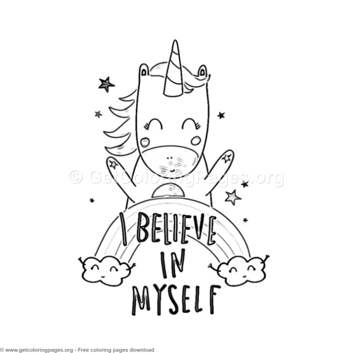 68 Cute Cartoon Unicorn Coloring Pages GetColoringPages