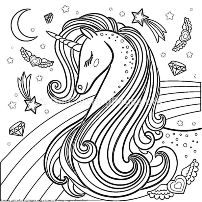 69 Cute Cartoon Unicorn Coloring Pages – GetColoringPages.org