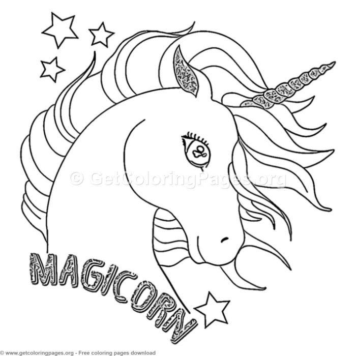 70 Cute Cartoon Unicorn Coloring Pages Getcoloringpages Org