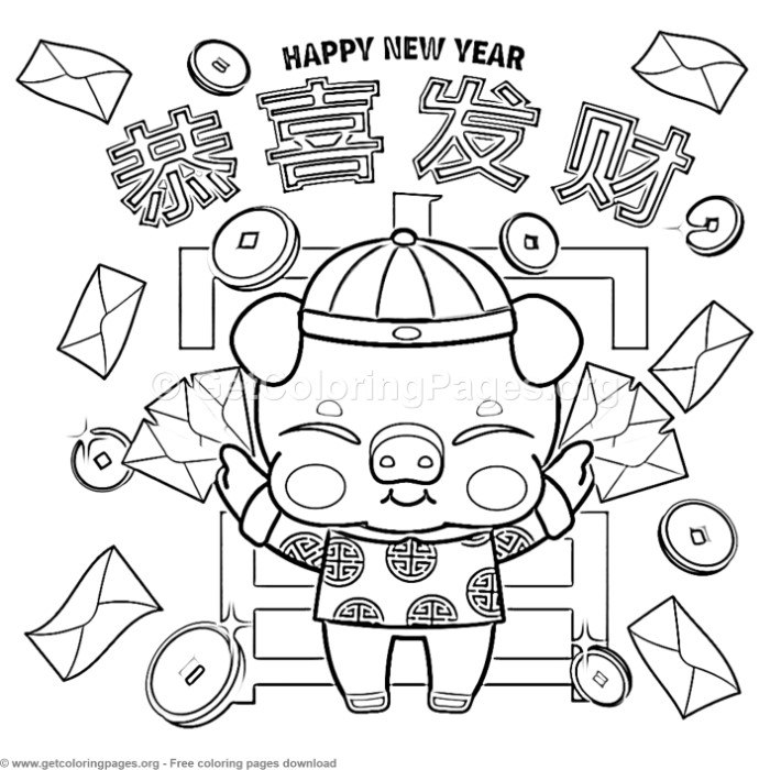 Year of the pig 2019 coloring pages ~ 8 Year of the Pig Coloring Pages – GetColoringPages.org