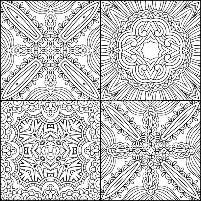 Mosaic Pattern 17 Coloring Pages Getcoloringpages Org