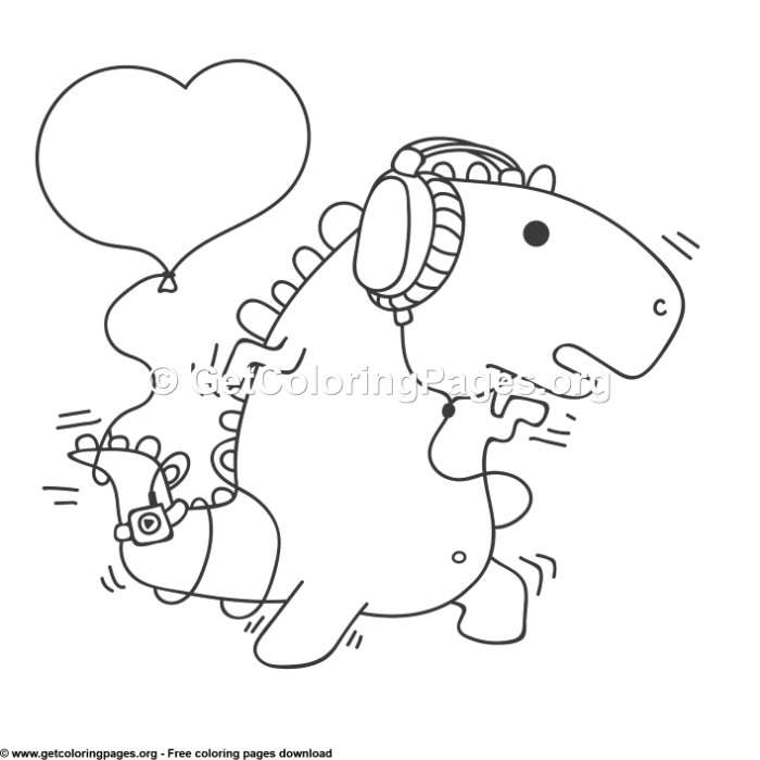1 Love Dinosaurs Coloring Pages Getcoloringpages Org