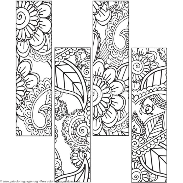 adult printable bookmarks coloring pages