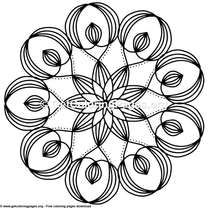 14 Simple Mandala Coloring Pages Getcoloringpages Org