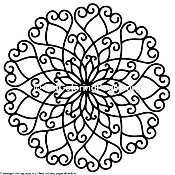 15 Simple Mandala Coloring Pages Getcoloringpages Org
