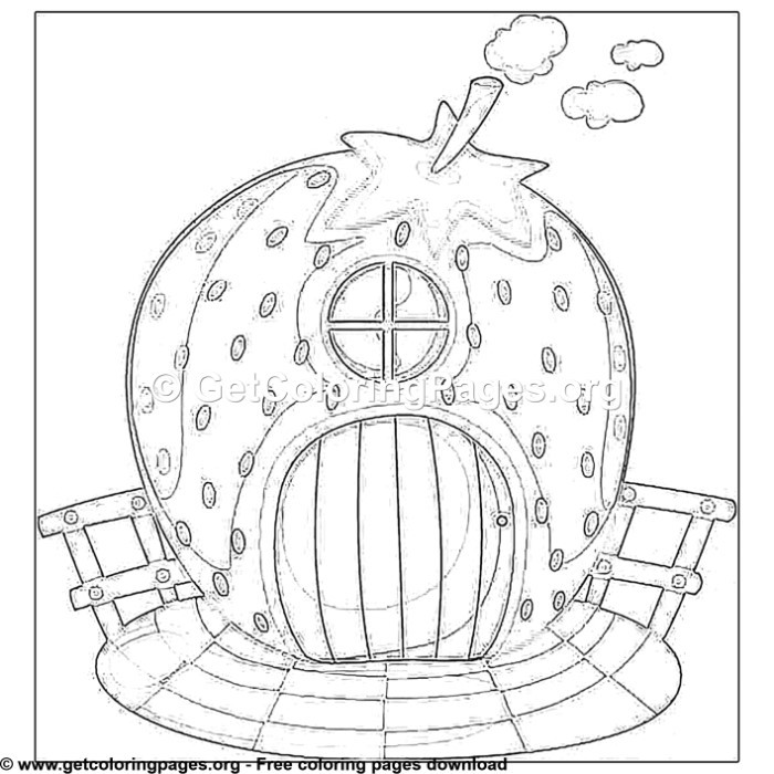 2 Cartoon Fairy House Coloring Pages - GetColoringPages.org