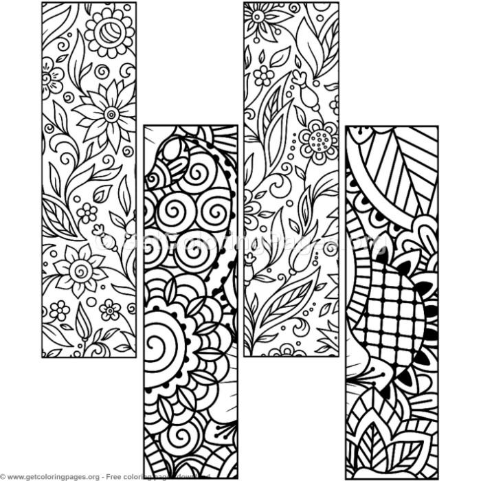 7 Floral Bookmark Coloring Pages Getcoloringpages Org