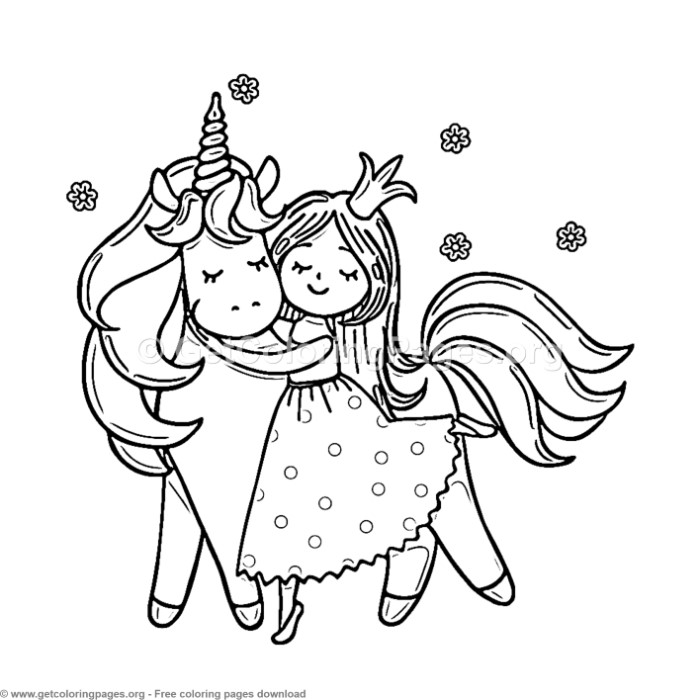 76 Cute Cartoon Unicorn Coloring Pages – GetColoringPages.org