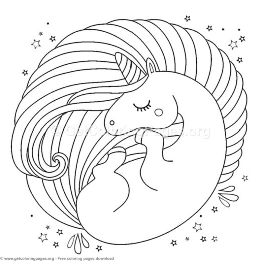 Cute Unicorn Coloring Pages Pdf Getcoloringpagesorg