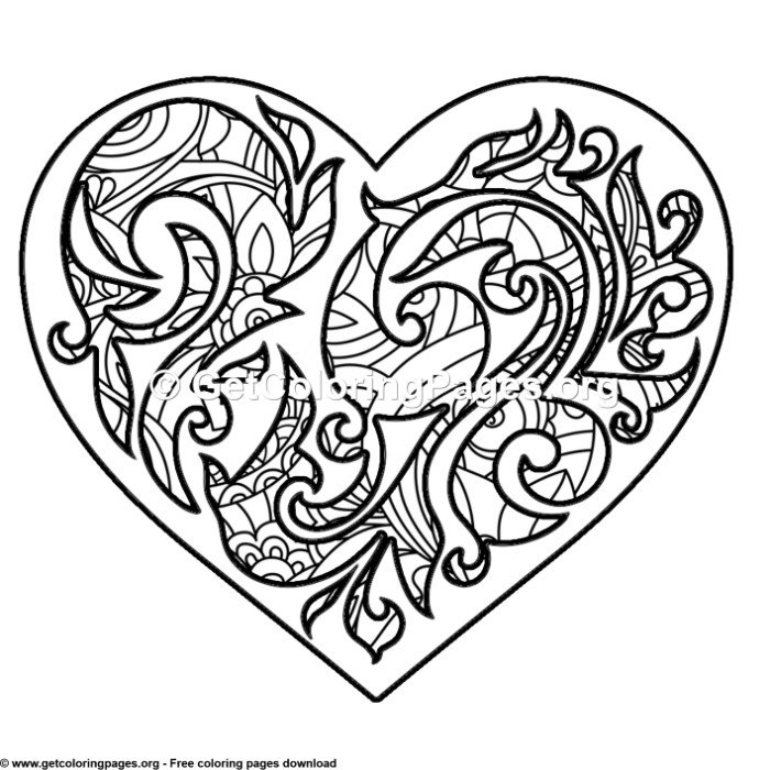 8 Zentangle Love Art Coloring Pages Getcoloringpages Org