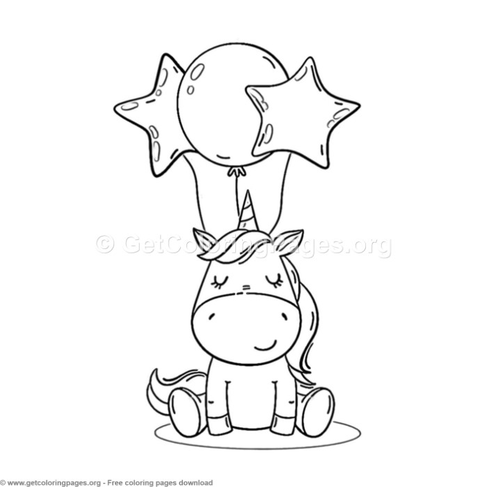80 Cute Cartoon Unicorn Coloring Pages – GetColoringPages.org