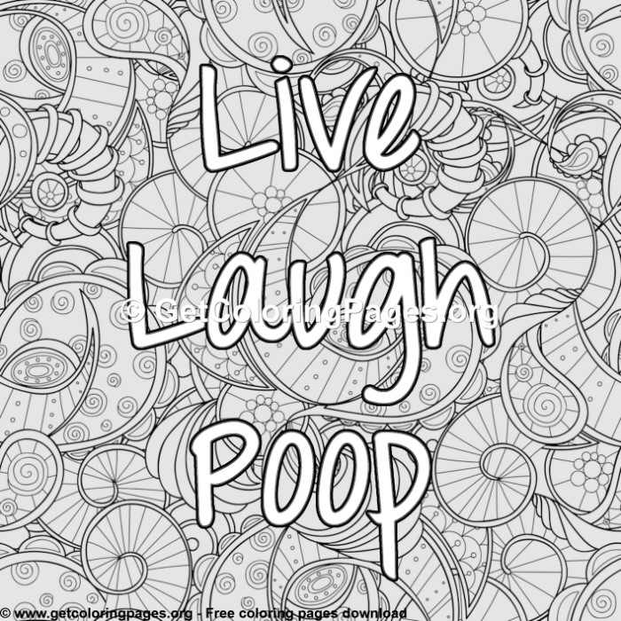 Funny Quotes - Live Laugh Poop Coloring Pages ...