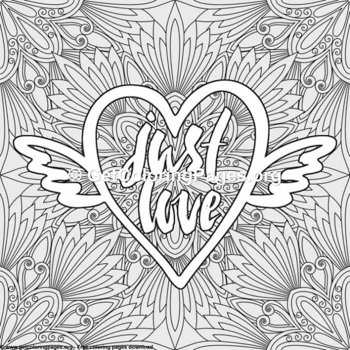 Love Lettering – Just Love Coloring Pages – GetColoringPages.org
